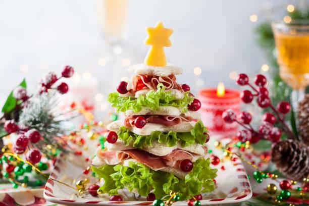 weihnachts-food - weihnachtsessen ideen stock-fotos und bilder