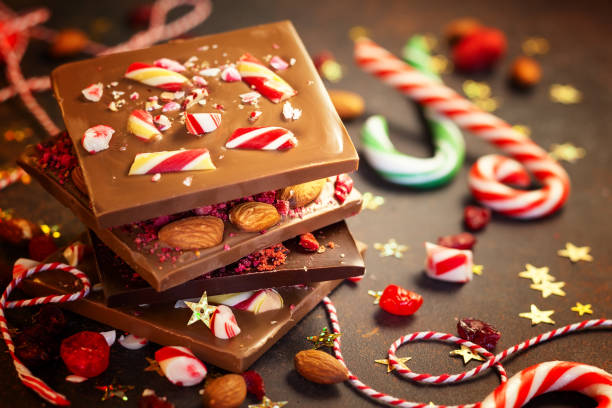 weihnachts-food - süßigkeit stock-fotos und bilder