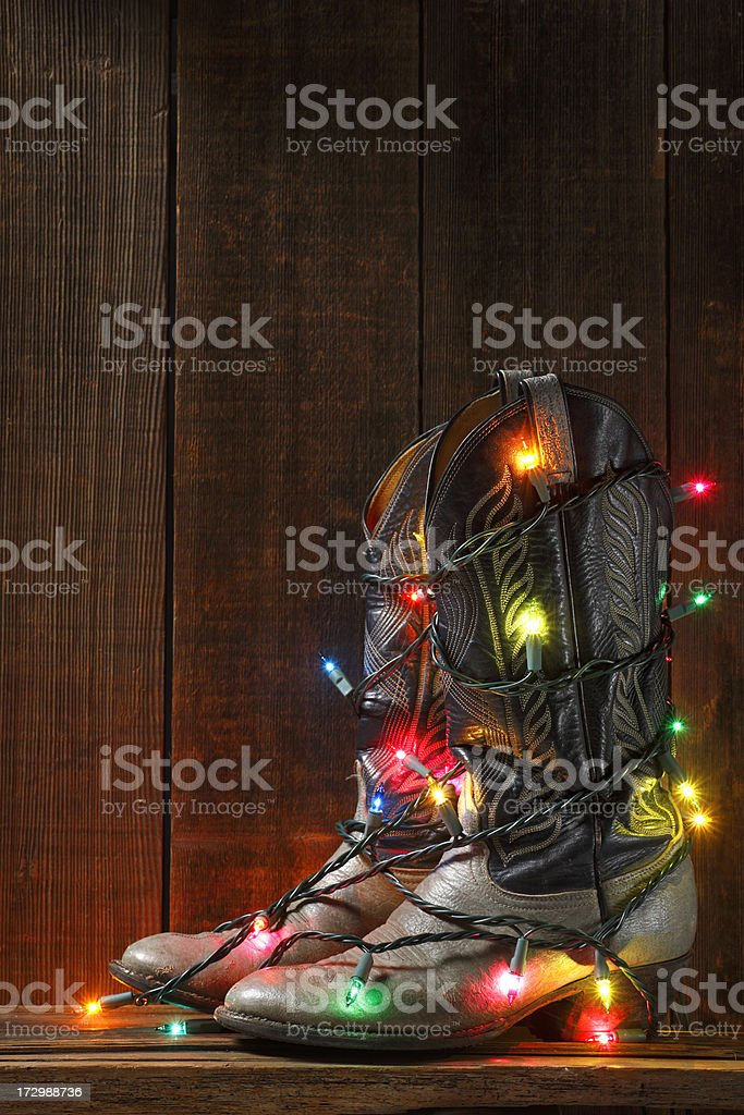 Christmas for Cowboys royalty-free stock photo