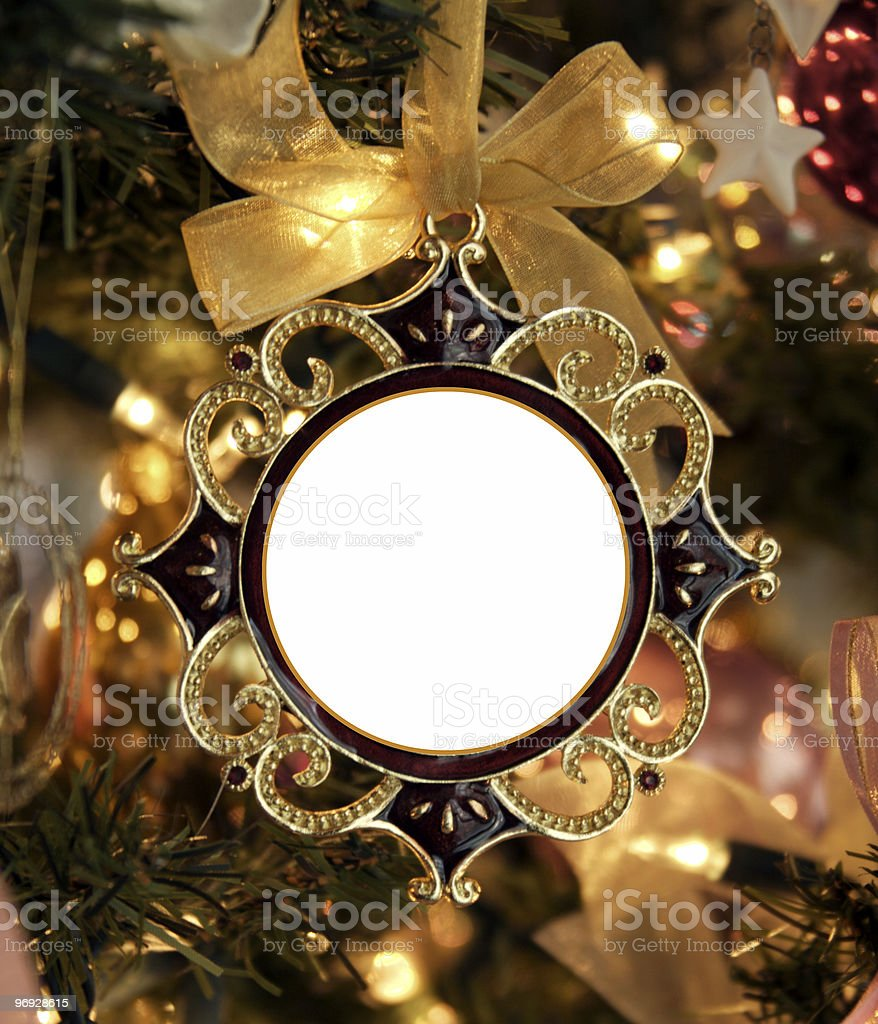 Christmas Frame Blank- Insert your Own Message/Picture royalty-free stock photo