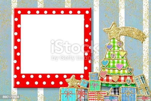678159134 istock photo Christmas frame for children greeting card 890177328