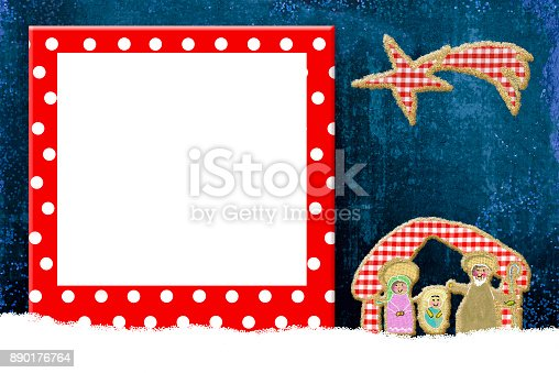 678159134 istock photo Christmas frame for children or babies 890176764