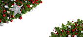 istock Christmas frame of tree branches 1175220939
