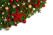 istock Christmas frame of tree branches 1175220964