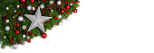 istock Christmas frame of tree branches 1176287615
