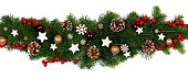 istock Christmas frame of tree branches 1176287633