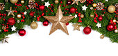 istock Christmas frame of tree branches 1177816629