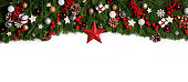istock Christmas frame of tree branches 1178301633