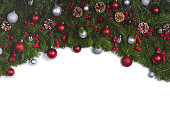 istock Christmas frame of tree branches 1179571526