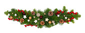 istock Christmas frame of tree branches 1181402121