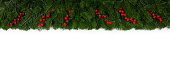 istock Christmas frame of tree branches 1183730311
