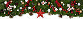istock Christmas frame of tree branches 1184120790