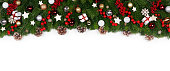 istock Christmas frame of tree branches 1184346862