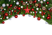 istock Christmas frame of tree branches 1281230617