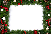 istock Christmas frame of tree branches 1282430938
