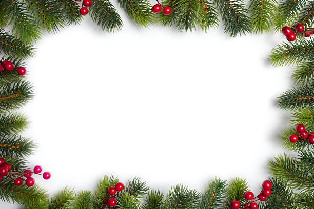 weihnachten frame - stechpalme stock-fotos und bilder