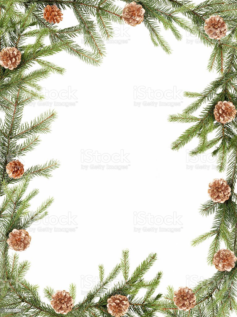 Christmas frame royalty-free stock photo
