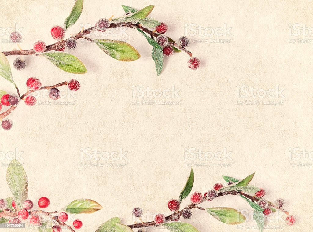 Christmas Frame Textured Grunge Background stock photo