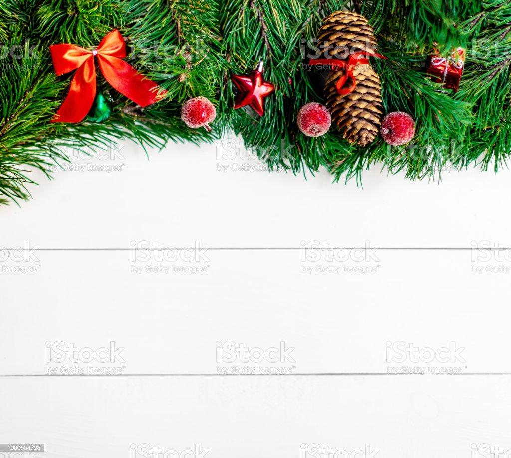 Arbre Bois Blanc Decoration photo libre de droit de cadre de noël avec des branches