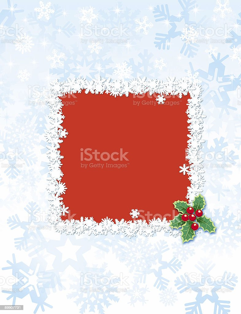 christmas frame#2 royalty-free stock photo