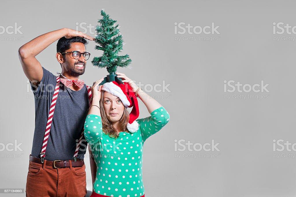 Christmas Friends stock photo