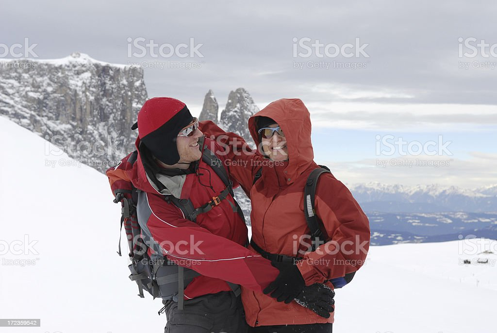 Christmas Friends Winter royalty-free stock photo