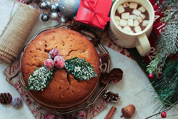 Christmas fruit cake kerala plum cake stock photo