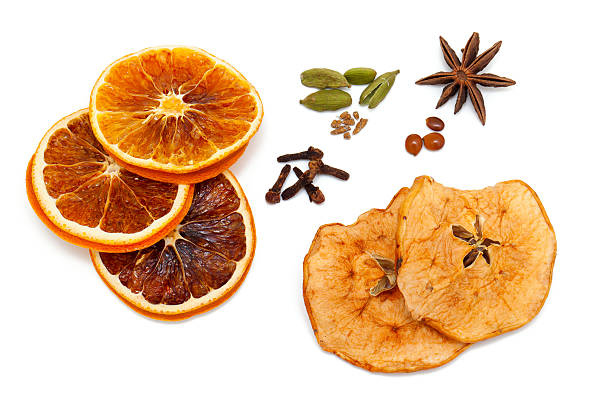 christmas fruits and spices stock photo