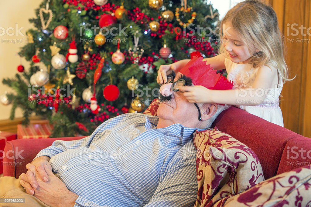 Image result for grandad christmas nap