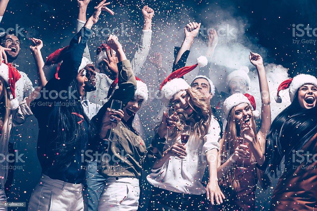 Christmas fun. stock photo