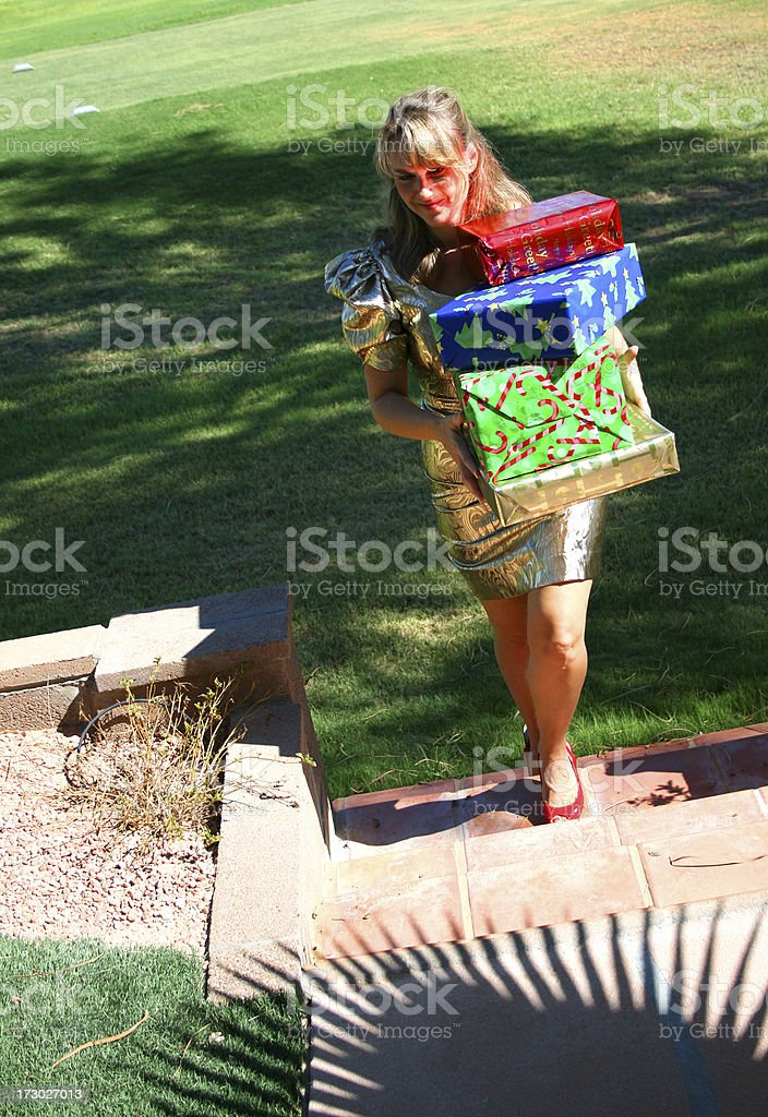 Christmas Gal royalty-free stock photo