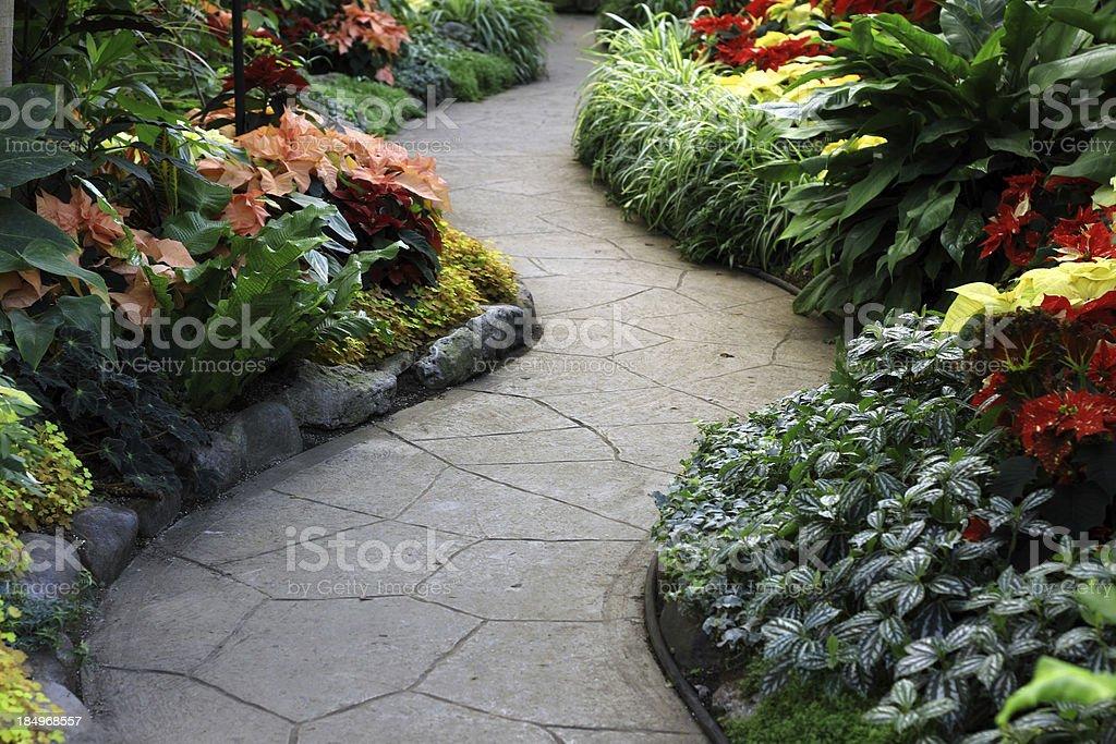 Christmas Garden Path stock photo