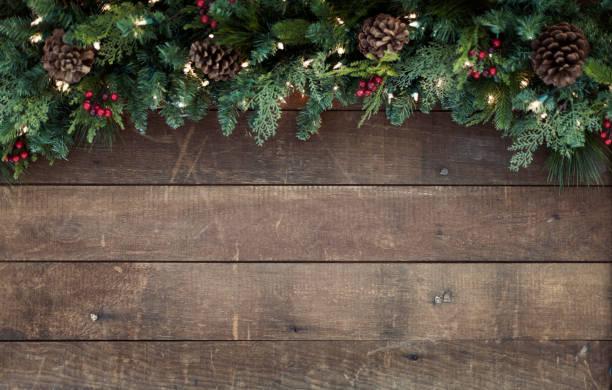 Weihnachten Girlande Hintergrund – Foto