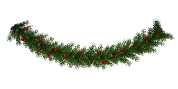 Christmas Garland Decoration Isolated stock photo