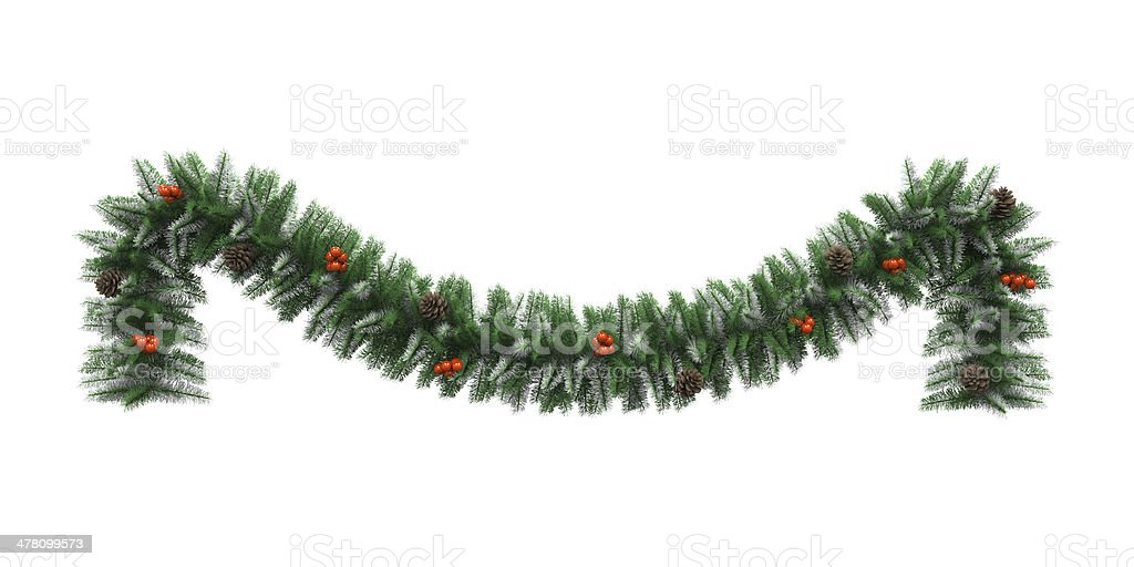 Christmas Garland Decoration bildbanksfoto