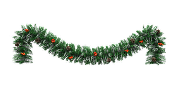 Christmas Garland Decoration stock photo