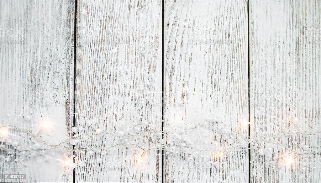 christmas garland lights stock photo