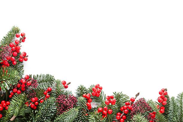 christmas garland - laub winter stock-fotos und bilder
