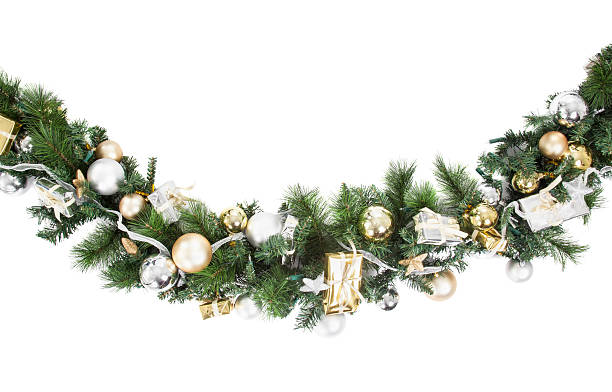 Christmas Garland stock photo