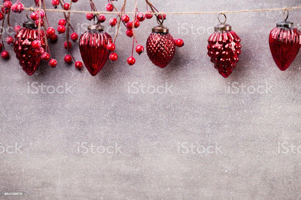Christmas garland. royalty-free stock photo
