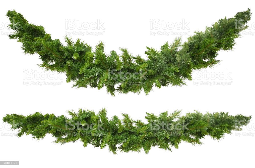Christmas Garlands bildbanksfoto