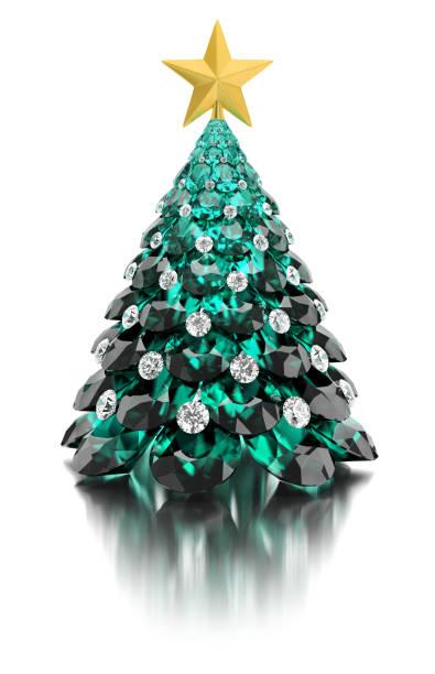 Cтоковое фото Christmas gem tree