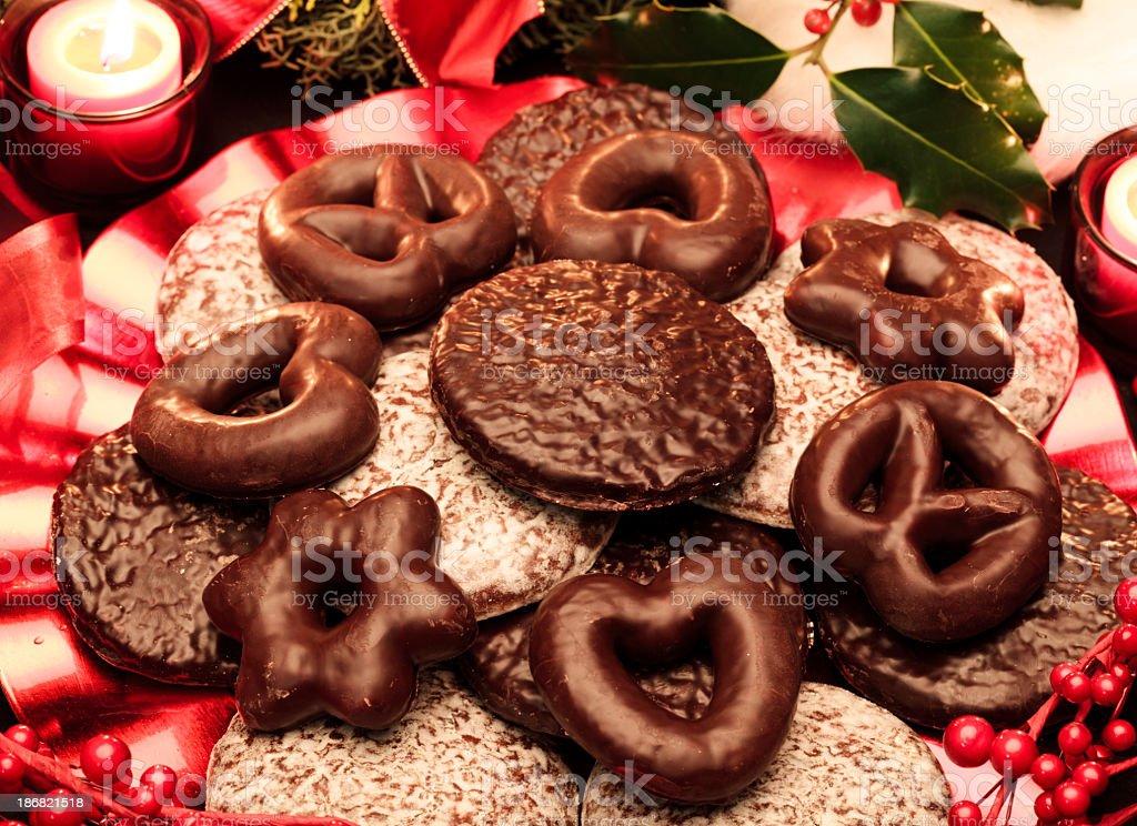 Christmas German Gingerbread Cookies Stock Photo Download Image