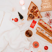 istock christmas gift backgrounds still life from above overhead 1194291017