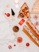 istock christmas gift backgrounds still life from above overhead 1194291163
