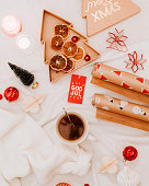 istock christmas gift backgrounds still life from above overhead 1194291856