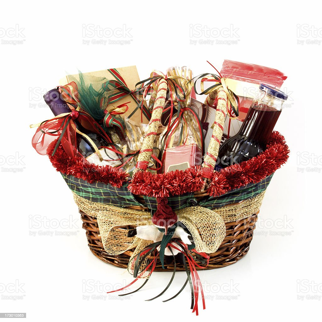 Christmas gift basket stock photo more pictures of basket istock christmas gift basket royalty free stock photo negle Image collections
