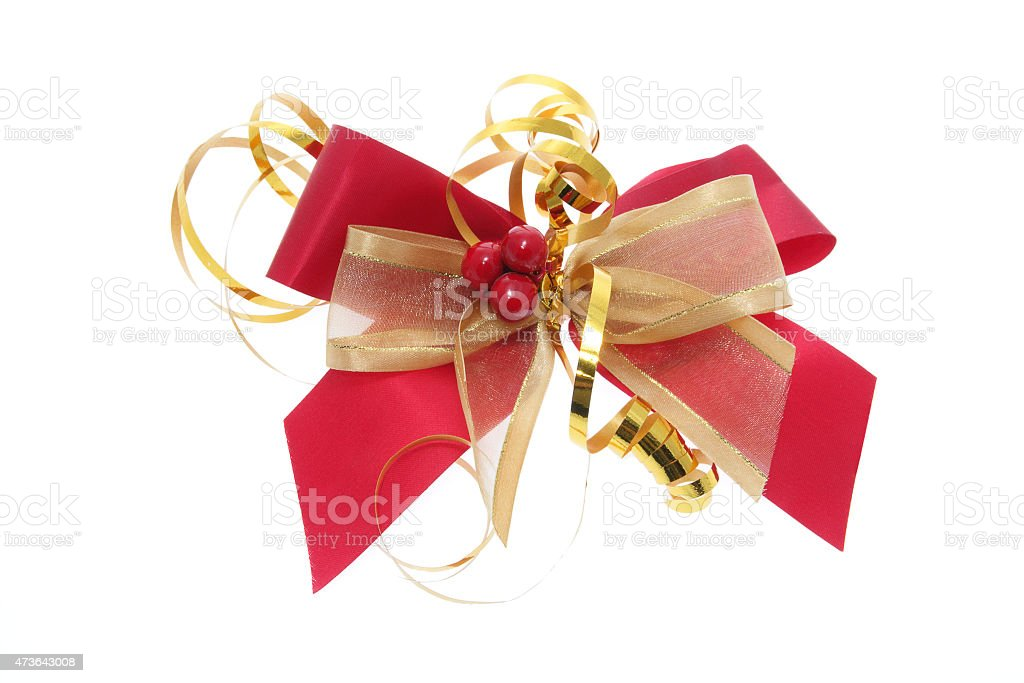 Christmas Gift Bow stock photo