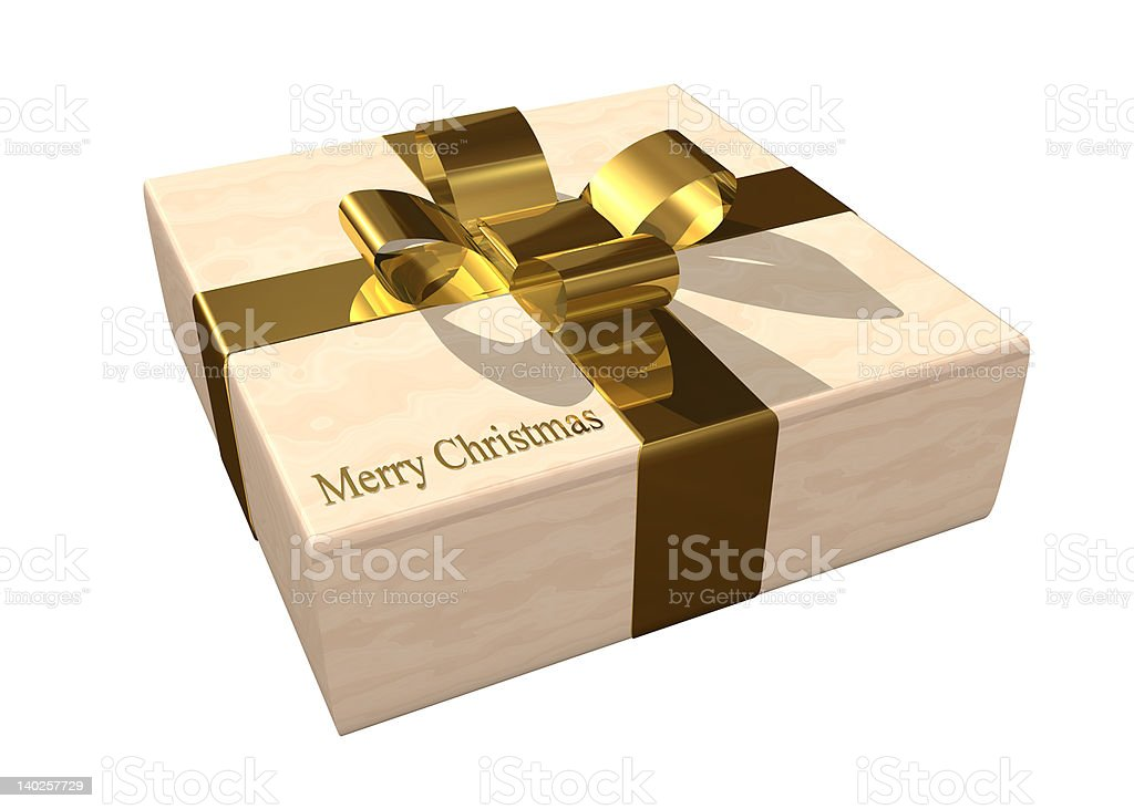 Christmas gift box royalty-free stock photo