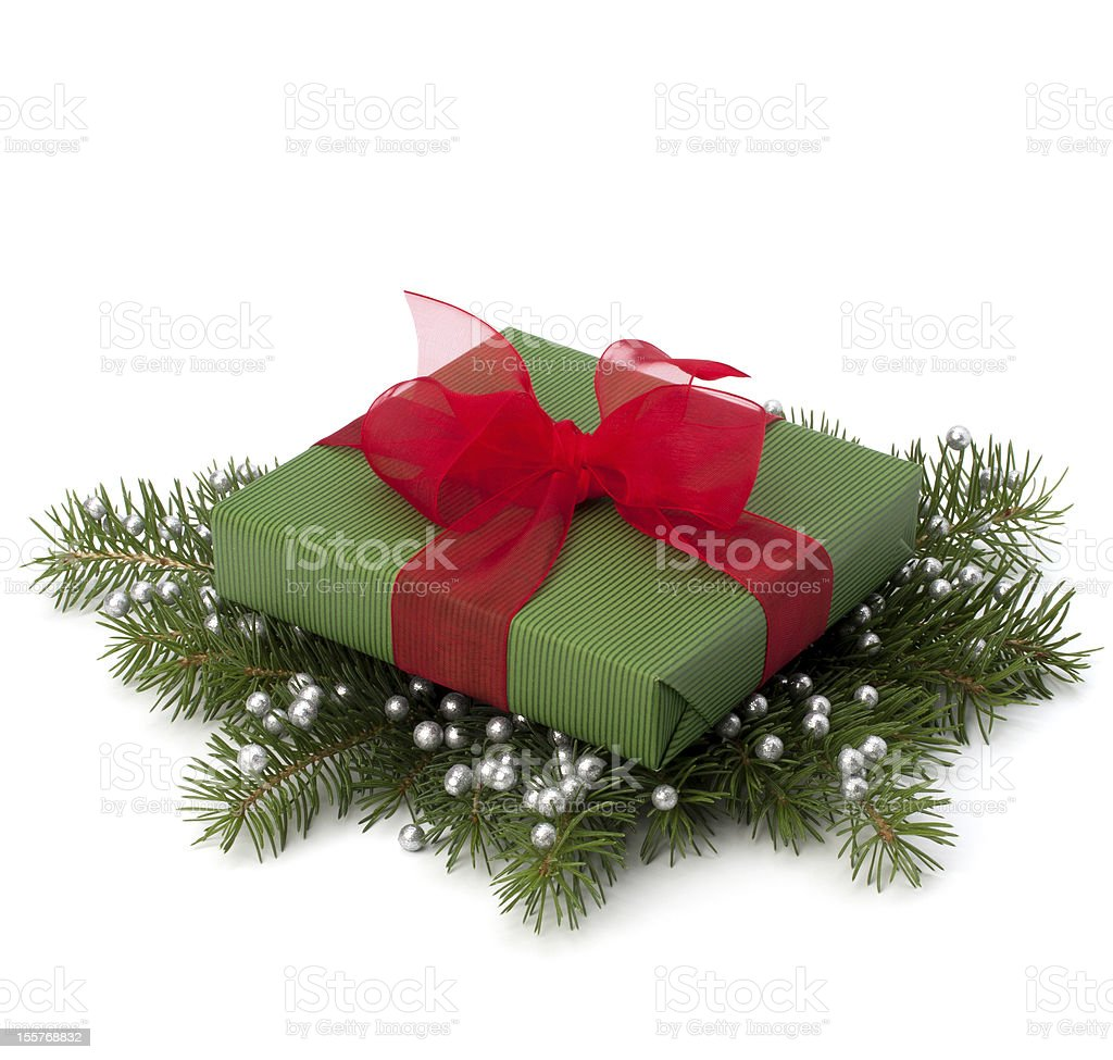 Christmas gift box royalty-free stock photo